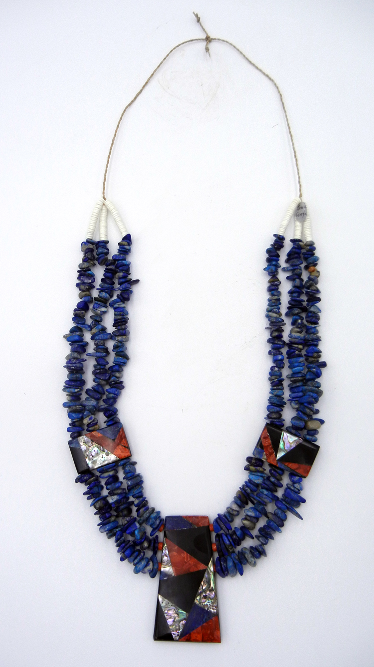 Santo Domingo multi-stone cleopatra necklace by Torevia Crespin