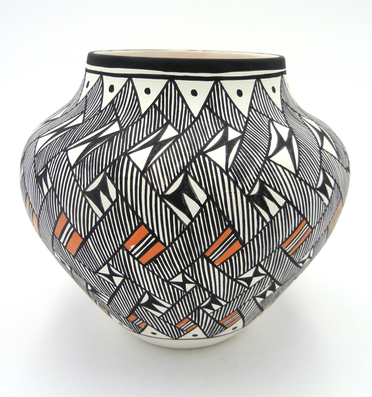 Acoma Beverly Garcia Handmade and Hand Painted Traditional Polychrome Jar