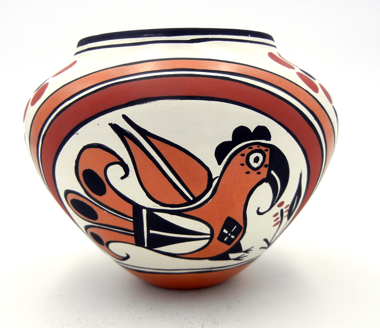 Acoma polychrome parrot pattern bowl by Keith Joe
