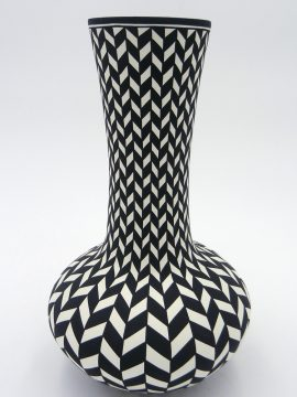 Acoma Paula Estevan Long Neck Eyedazzler Vase