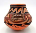 Hopi traditional handmade and hand painted bowl circa 1983 by Ethel Youvella Polacca