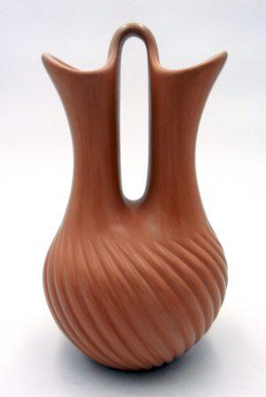 Jemez buff polished melon style wedding vase by Laura Gachupin