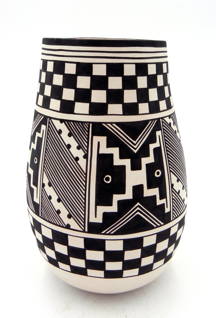 Laguna Myron Sarracino traditional pattern handmade and hand painted vase