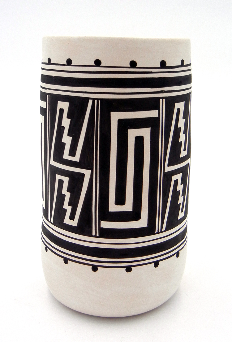 Laguna Myron Sarracino Handmade and Hand Painted Cylinder