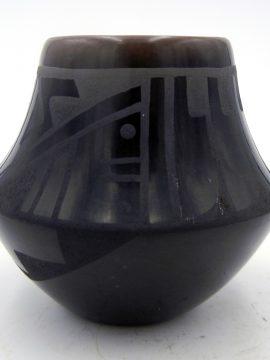 San Ildefonso Erik Sunbird (Than Tsideh) Fender Black on Black Small Jar
