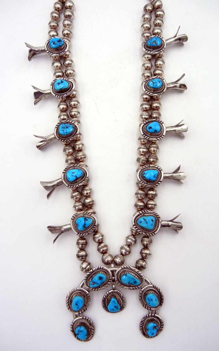 native-american-indian-jewelry-navajo-necklace-turquoise-sterling-silver-squash-blossom-1970s (2)