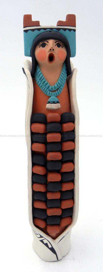 Jemez polychrome traditional corn maiden figurine by Carol Lucero Gachupin