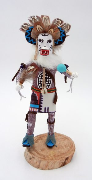 Navajo White Ogre Kachina by Arvin Morris