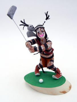 Navajo Bertha Wood Golfing Koshare Kachina