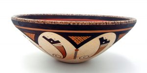 #Hopi handmade and hand painted contemporary bowl by Stetson Setalla