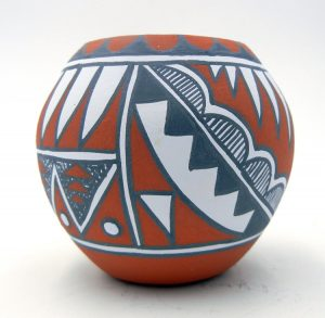Jemez small handmade and hand painted bowl by Mary Small