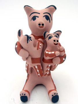 Jemez Felicia Fragua Pig Storyteller with Two Piglets