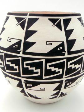 Laguna Myron Sarracino Black and White Stylized Weather Pattern Jar