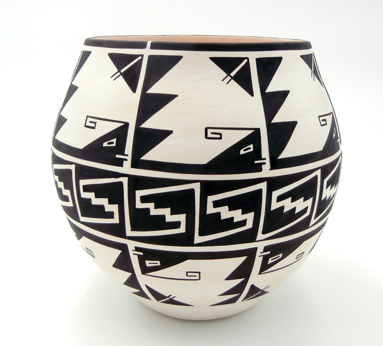 Laguna Myron Sarracino Black and White Stylized Weather Pattern Jar