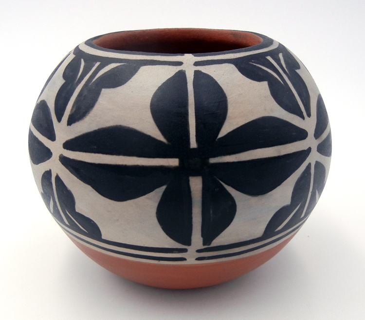 Santo Domingo Robert Tenorio Traditional Floral Pattern Bowl