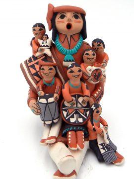 Jemez Carol Lucero Gachupin Male Storyteller with Six Children