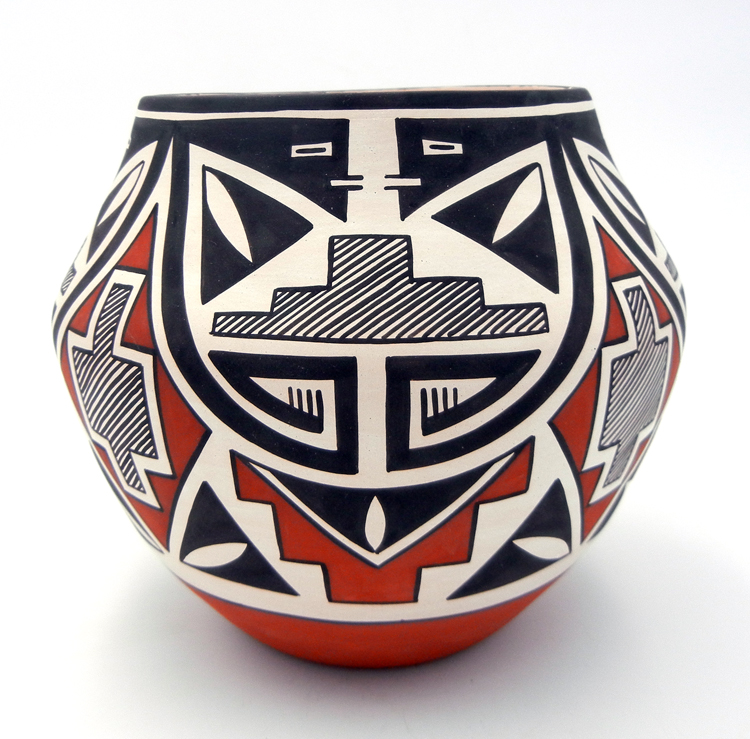 Laguna Myron Sarracino Traditional Handmade Polychrome Jar