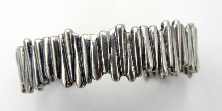 Navajo melded sterling silver cuff bracelet