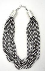 Navajo ten strand sterling silver Navajo pearl necklace by Dorinda Mariano