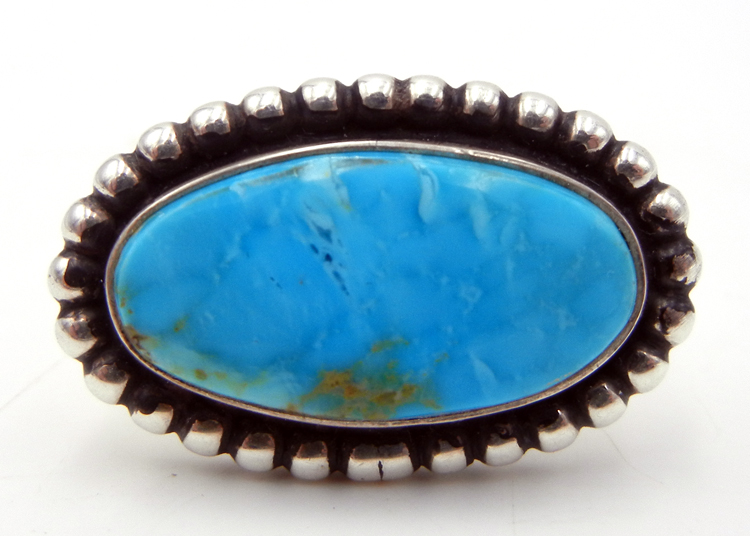 Navajo Adjustable Turquoise and Sterling Silver Ring