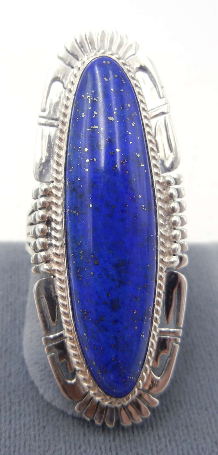 Navajo Bennie Ration Lapis and Sterling Silver Ring