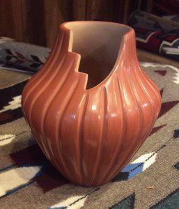 Jemez step rim vase by Pauline Romero