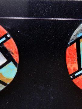 Santo Domingo Chris Nieto Multi-Stone Inlay Earrings