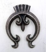 Navajo sandcast sterling silver naja pendant by Anthony Bowman