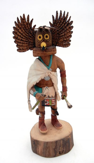 Hopi horned owl kachina doll by Wayland Namingha