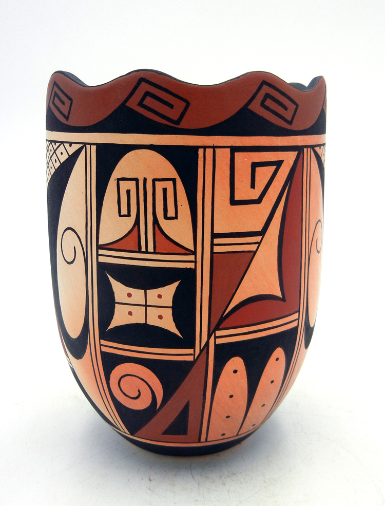 Hopi Stetson Setalla Handmade and Hand Painted Cylindrical Vase