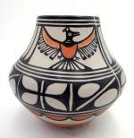 Santo Domingo thunderbird jar by Robert Tenorio