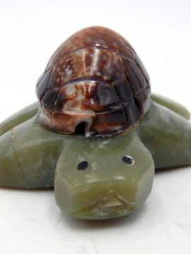 Zuni Serpentine and Sea Shell Turtle Fetish