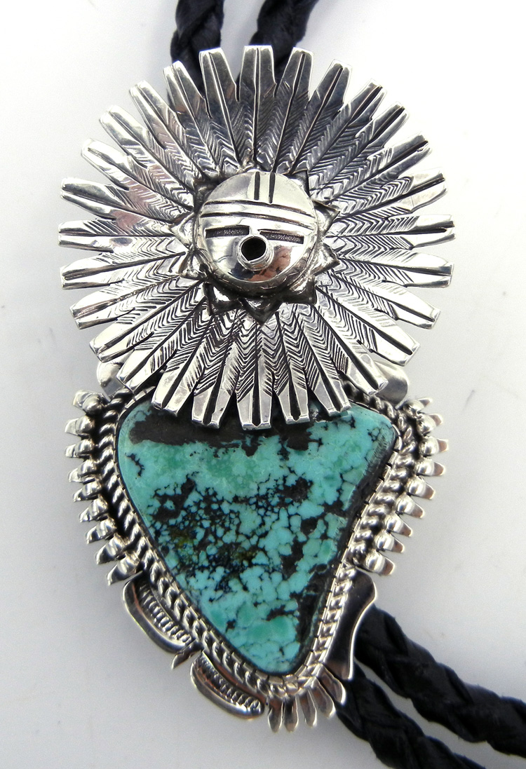 native-american-indian-jewelry-navajo-bolo-tie-turquoise-sterling-silver-sunface-bennie-ration (2)