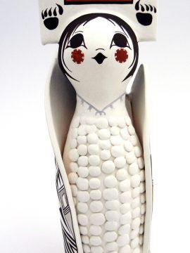Acoma Judy Lewis Polychrome Corn Maiden Figurine