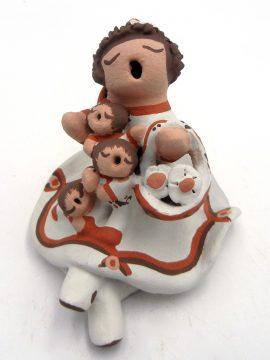 Isleta Mona Teller Seated Storyteller with Three Children