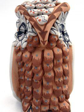 Jemez Darrick Tsosie Polychrome Owl Figurine