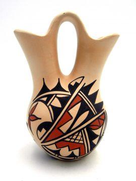 Jemez Dolores Toya Buff Polished and Painted Wedding Vase