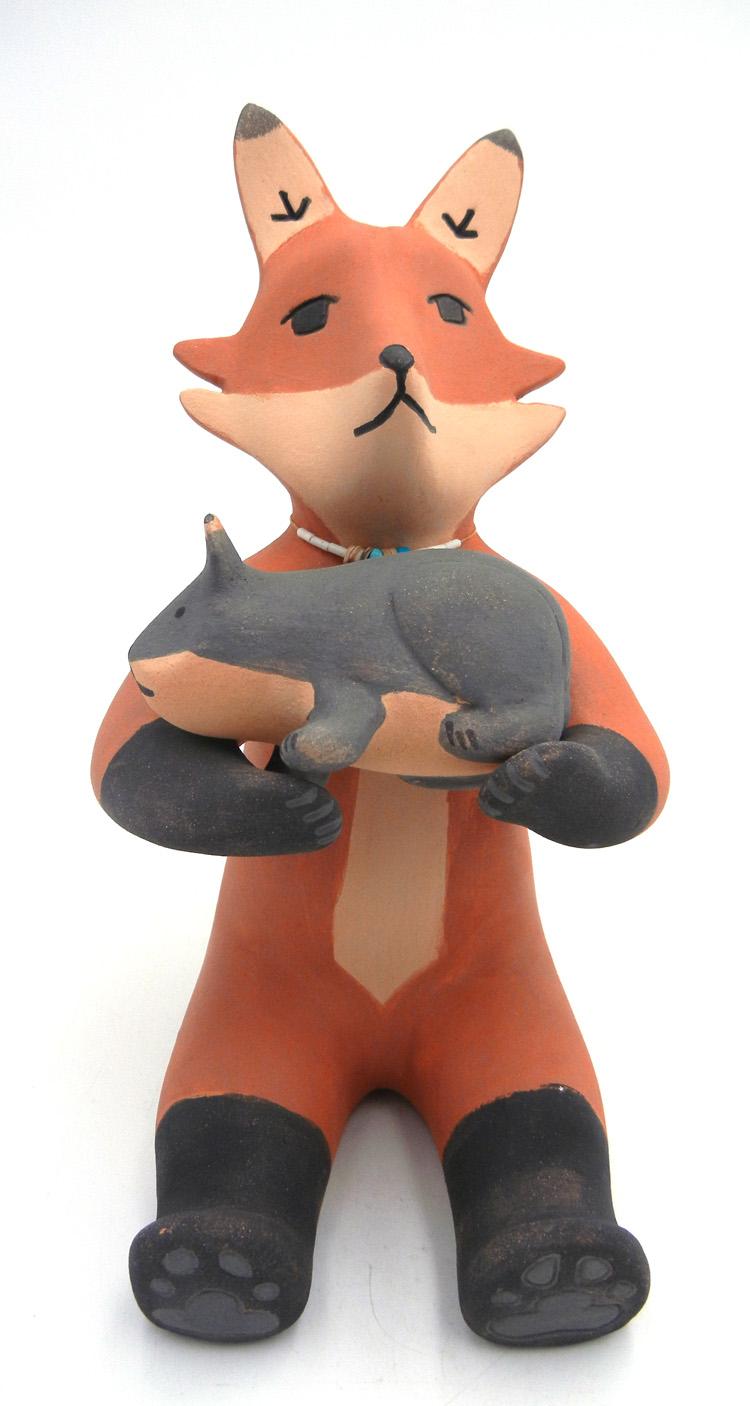 Jemez Marcus Wall Fox Figurine with Mouse