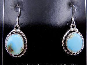 Navajo Golden Hills Turquoise and Sterling Silver Earrings