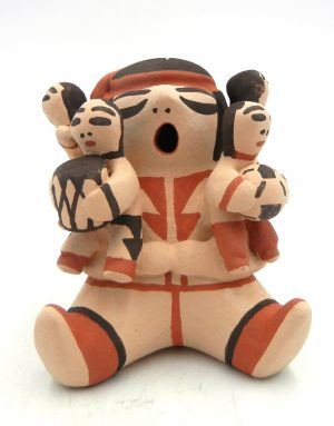 Cochiti Judith (Judy) Suina Seated Male Storyteller with Four Children