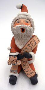 Jemez Emily Fragua Tsosie Santa Claus Storyteller with One Child