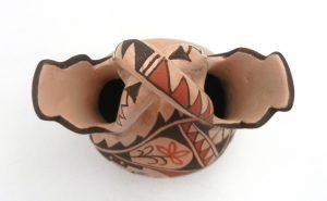 Jemez Juanita Fragua Buff Polished and Painted Handmade Wedding Vase