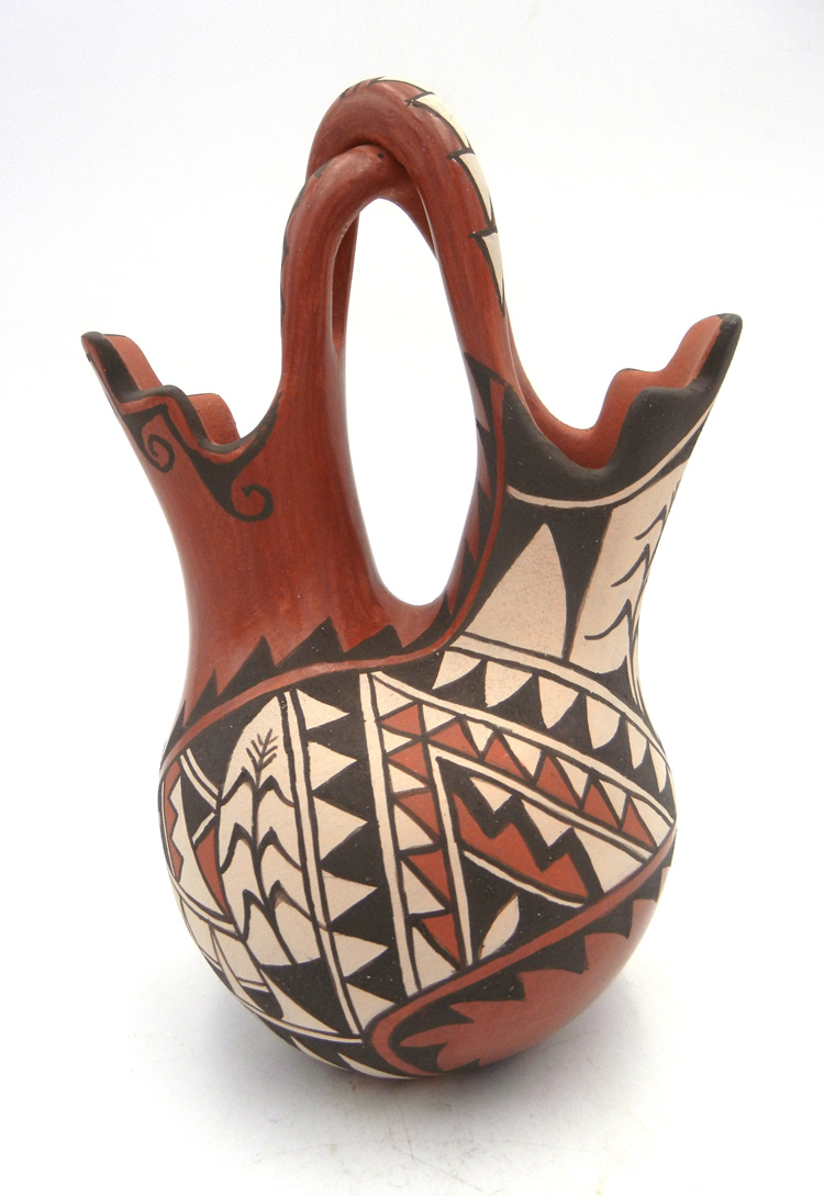 Jemez Juanita Fragua Red Polished and Painted Handmade Wedding Vase