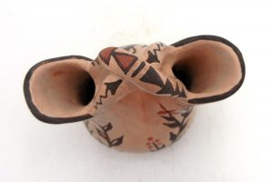 Jemez Juanita Fragua Small Handmade and Hand Painted Buff Polished Wedding Vase