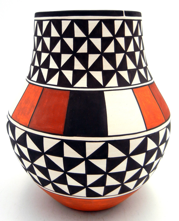Laguna Myron Sarracino Handmade and Hand Painted Polychrome Jar