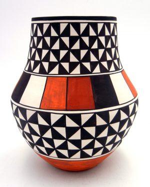 Laguna Myron Sarracino Handmade and Hand Painted Polychrome Jar
