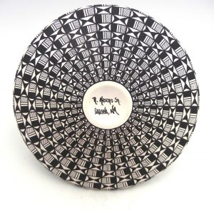 Laguna Robert Kasero Black and White Handmade and Hand Painted Long-Necked Eye-Dazzler Vase