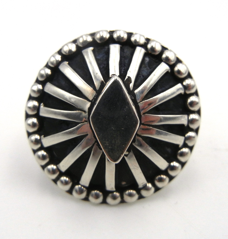 Navajo contemporary sterling silver ring by Tom Hawk