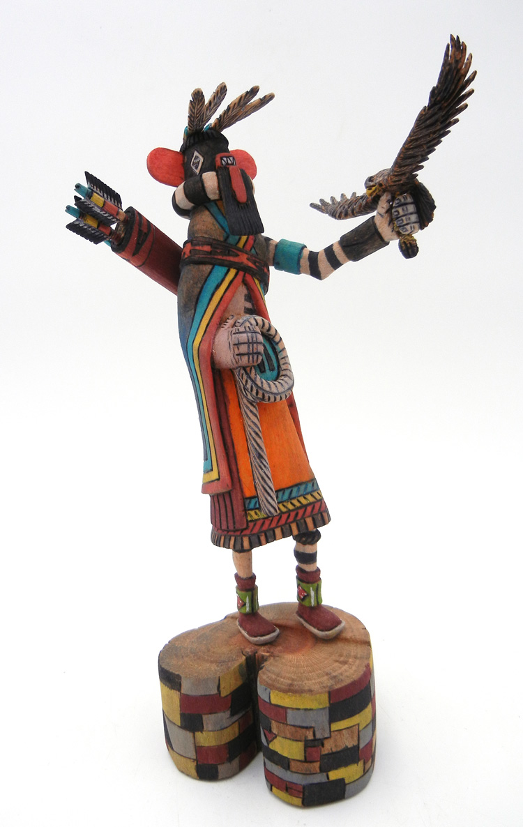Hopi/Laguna left handed hunter kachina by Ray Jose