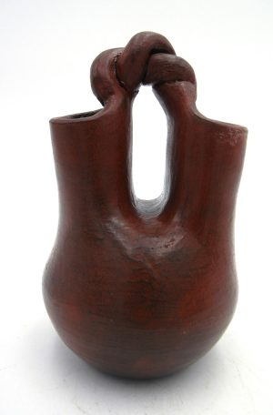 Navajo small traditional pine pitch wedding vase by Michelle Williams